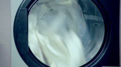 Industrial washer in laundry - stock footage