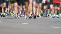 HD - City Marathon. Feet of people Close Up Stock Footage