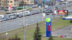 Cars traffic jam in St. Petersburg, Russia. Stock Footage