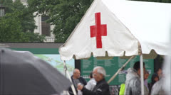 First Aid Tent at Event - stock footage