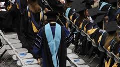 Women at Graduation Walking - stock footage