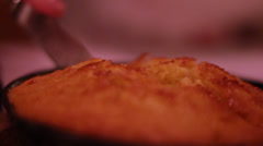 Cutting Cornbread - stock footage