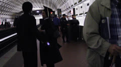 DC Metro Police Bomb Sniffing Dog Stock Footage