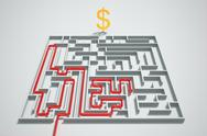 Money maze. Stock Illustration