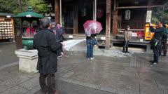 Fudo-do is the end of hike tour in Kikaku-ji shrine, Kyoto Stock Footage