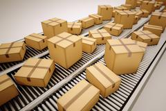Package sorting. - stock illustration