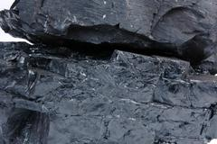 detailed texture of the coal - stock photo
