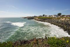 the california coast near santa cruz - stock photo