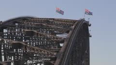 Sydney Harbour Bridge from Echo Point Stock Footage