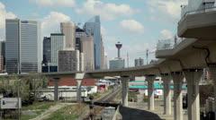 LRT West Leg in Calgary Stock Footage