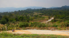 Dirt road on a hill. Stock Footage