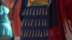 Native American Powwow Dancers - Close up - Female Various regalia Stock Footage