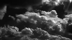 Clouds horror Stock Footage