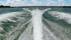 Boat Water Trail Stock Footage