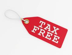 tax free label - stock illustration