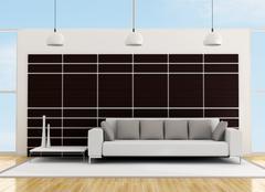 minimalist living room - stock illustration