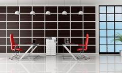 modern office - stock illustration