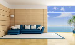 Holiday villa Stock Illustration