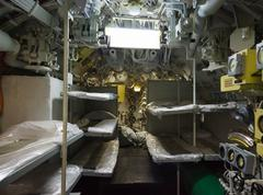 Aft compartment submarines Stock Photos