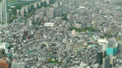Tokyo Skytree Oshiage Aerial View to Tokyo 51 Stock Footage