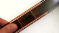 Select shots on a photo film in studio Stock Footage