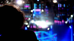 Woman Dancing at a concert Stock Footage