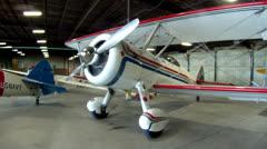 Stearman Biplanes in Hangar Stock Footage