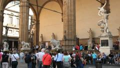 Loggia della Signoria, Florence Stock Footage