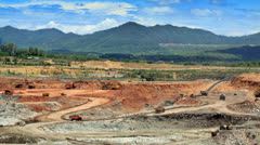 Time laspe open pit mine Stock Footage
