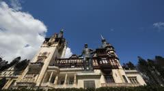 Castle in Romania, Peles Castle Stock Footage