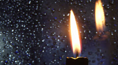 Shimmering candle ligh Stock Footage