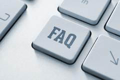 faq button - stock photo