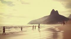 Beach in Rio de Janeiro Stock Footage