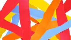 Torn paper strips background. - stock footage