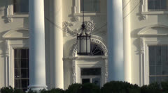 White House zoom out Stock Footage