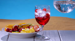 Colorful summer drink Stock Footage