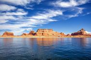 Stock Photo of view on famous lake powell