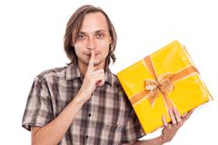 secret present - stock photo