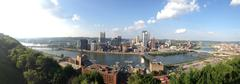 Pittsburgh Skyline Panorama Stock Photos