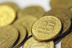 25 Centavo Philippine Coins - stock photo