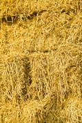 Straw in the farmyard Stock Photos