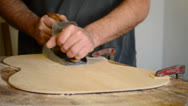 Stock Video Footage of Wood planer working in flamenco guitar