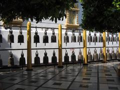 Bells Wat Phradhat in Thailand - stock photo