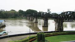 Bridge of the River Kwai in Thailand Stock Photos