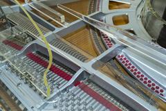 Modern grand piano Stock Photos