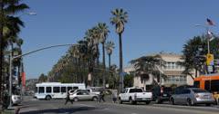Ultra HD 4K Hollywood High School on Sunset Strip Boulevard, Los Angeles, USA Stock Footage