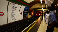 London Tube arriving Stock Footage
