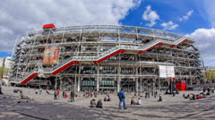 The Pompidou cultural center in Paris, France, HD Stock Footage