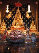 Intrieur Wat Niramit in Thailand - stock photo