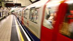 London Empty Subway Station Stock Footage